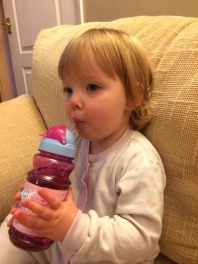 Learning to drink from a straw