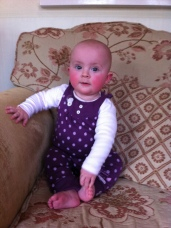 Sitting up all on her own