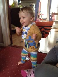 Standing unaided for the first time