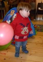 Christmas is more fun this year with Leyton running round enjoying everything!